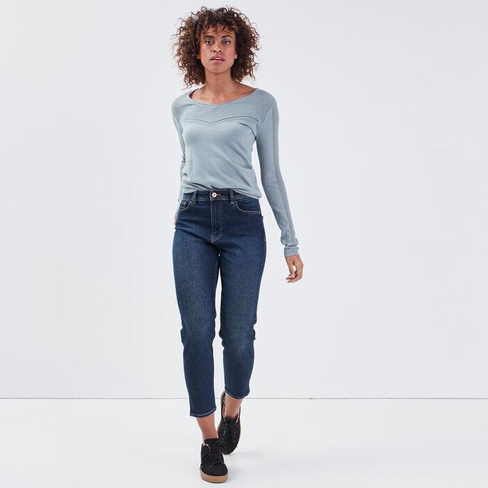Jeans Gwen - mom denim brut femme