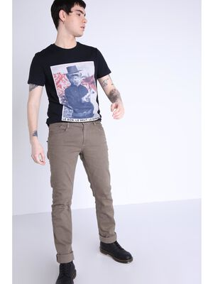 Pantalon teinte par produits naturels vert kaki homme