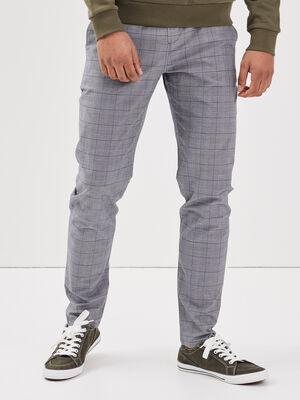 Pantalon chino bleu fonce homme