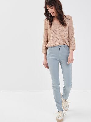 Pantalon slim gris fonce femme