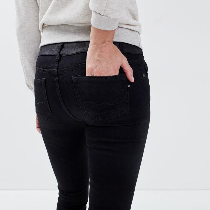 Jeans Isabelle - slim denim noir femme