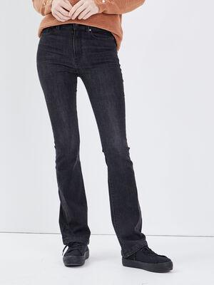 Jeans Yoko  bootcut denim gris femme