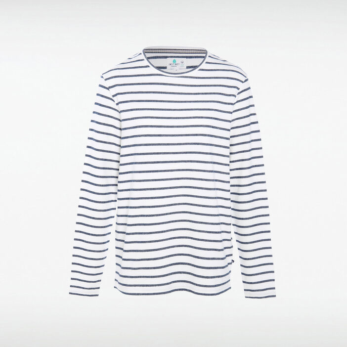 T-shirt Instinct col rond ecru homme