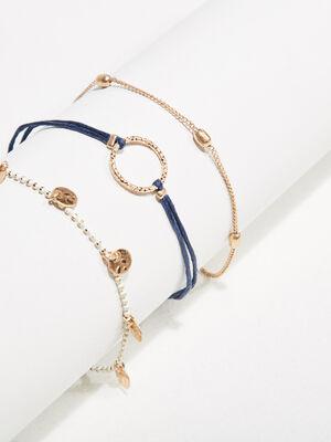 Lot 3 bracelets couleur or femme