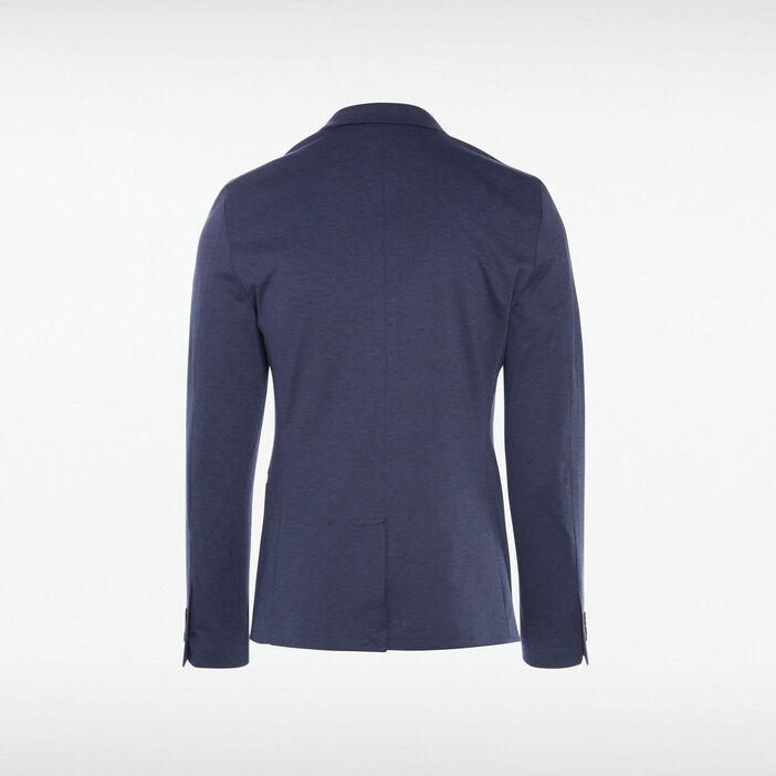 Veste blazer cintrée boutonnée bleu foncé homme