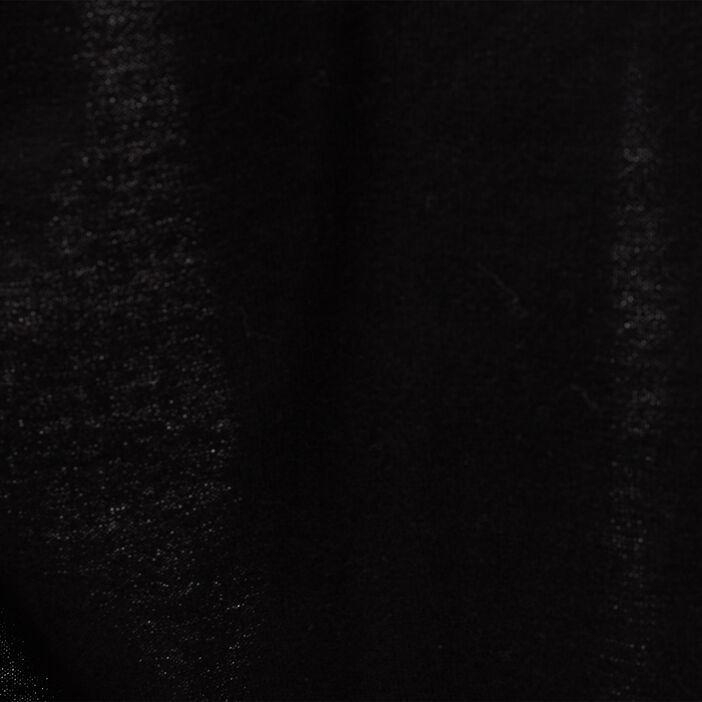 Gilet manches longues ajouré noir femme