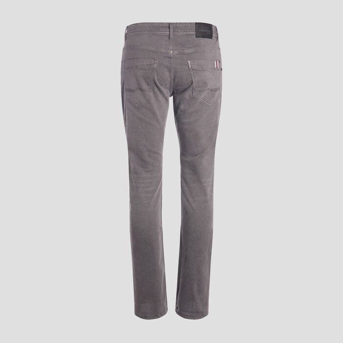 Jeans straight used denim gris homme