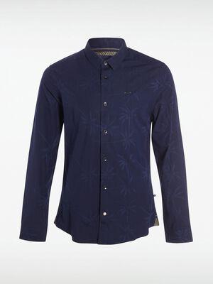 chemise homme denim a motifs denim blue black