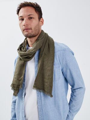 Foulard vert kaki homme