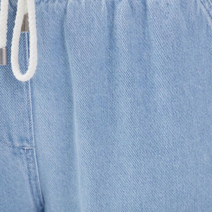 Jeans jogging denim bleach femme