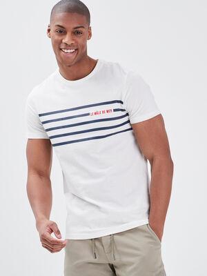 T shirt eco responsable ecru homme
