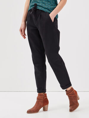 Pantalon paperbag 78eme noir femme