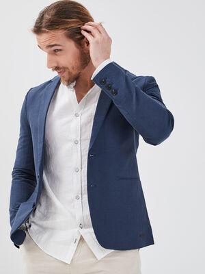 Veste blazer eco responsable bleu fonce homme