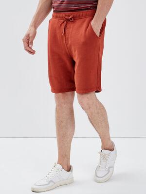 Bermuda droit orange fonce homme