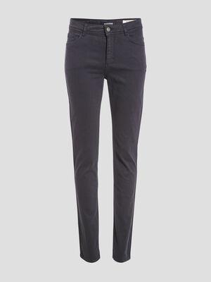 Pantalon slim bleu fonce femme