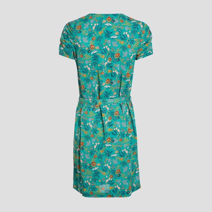 Robe droite ceinturée vert menthe femme