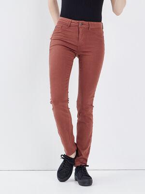 Pantalon Marion  Slim marron fonce femme