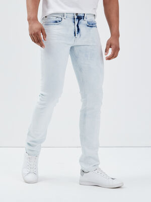 Jeans slim bleached effect denim bleach homme