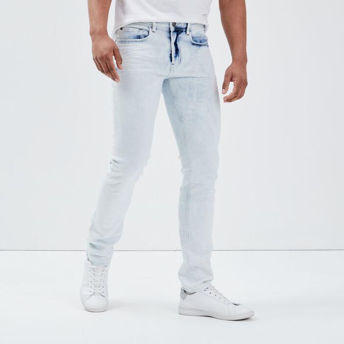 Jeans slim bleached effect denim bleach homme