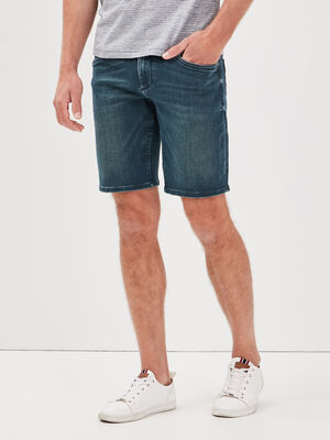 Bermuda droit ultra stretch denim dirty homme