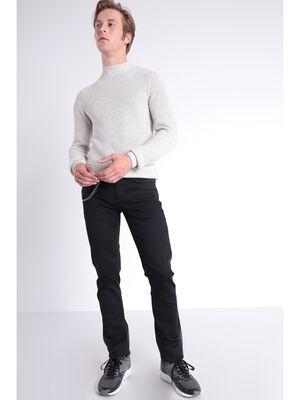 Jeans slim a chaine denim noir homme