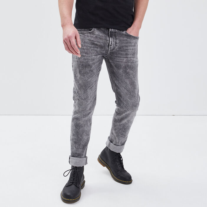 Jeans slim denim gris homme