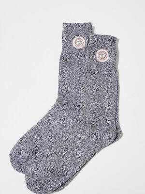 Chaussettes gris fonce homme