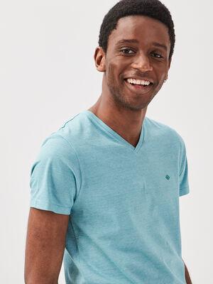 T shirt manches courtes bleu clair homme