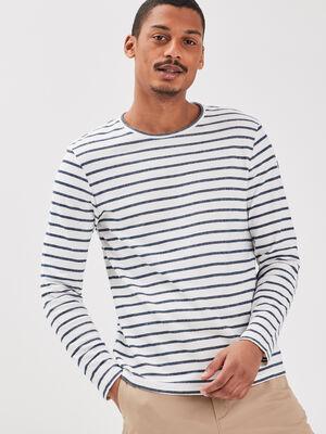 T shirt Instinct col rond ecru homme