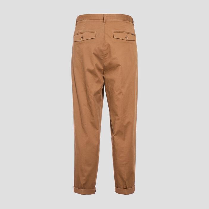Pantalon chino avec porte-clés vert kaki homme