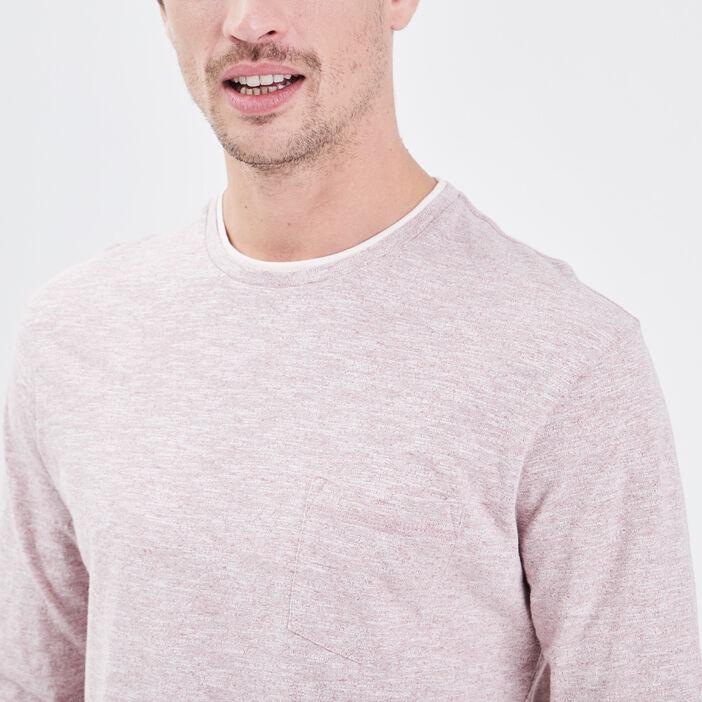 T-shirt manches longues rouge foncé homme