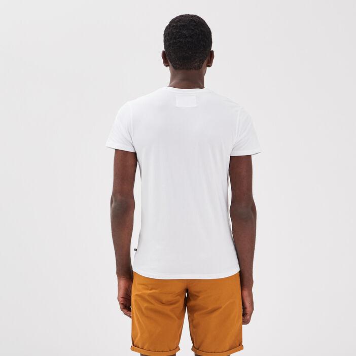 T-shirt col V Instinct blanc homme