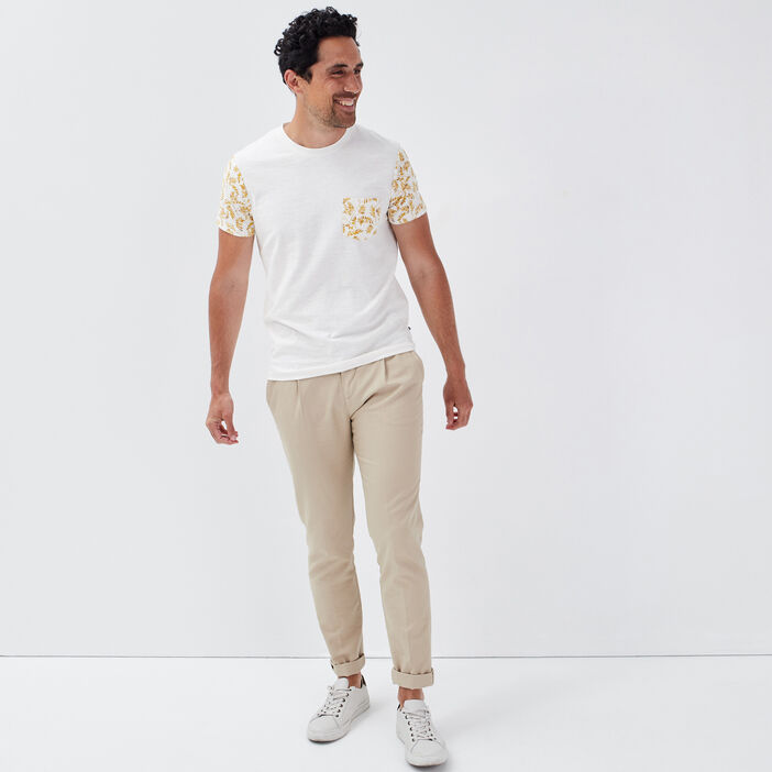 T-shirt manches courtes jaune homme