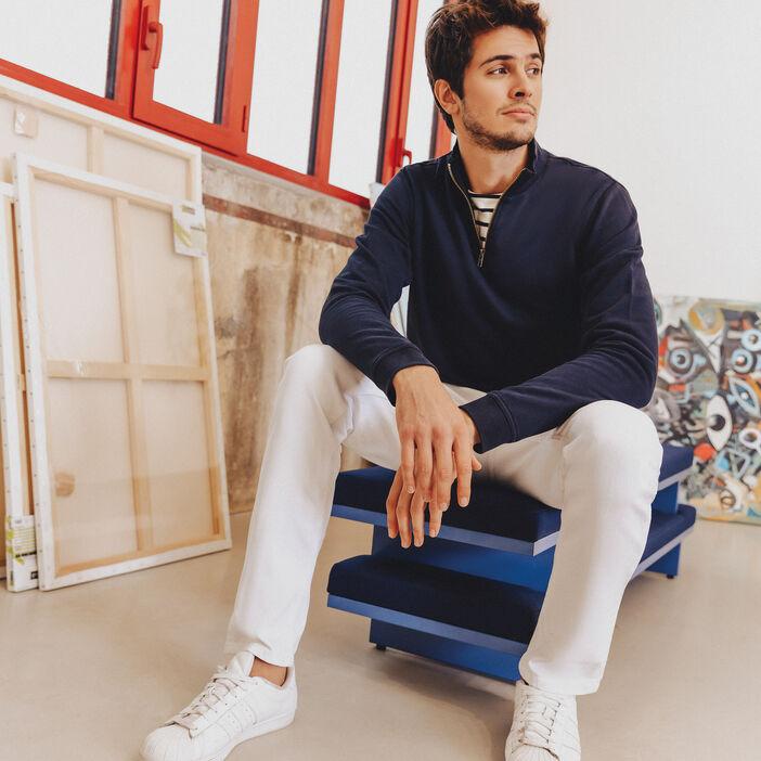 Jeans slim effet used Instinct ecru homme