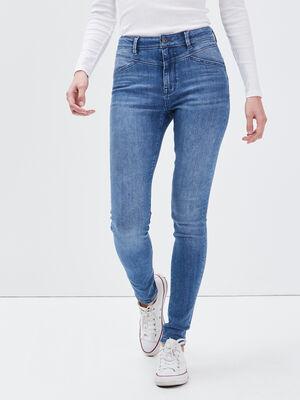 Jeans skinny denim bleach femme