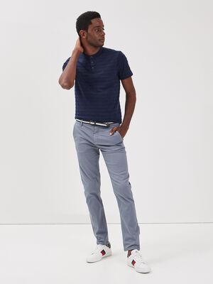Pantalon chino a ceinture bleu gris homme