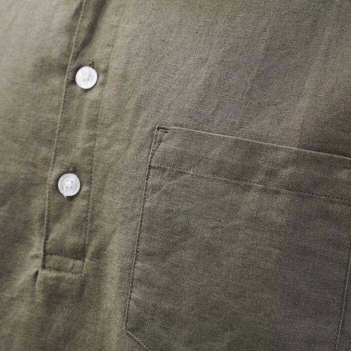 Chemise éco-responsable vert kaki homme
