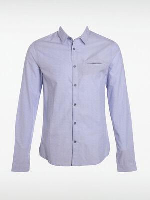 Chemise manches longues bleu clair homme