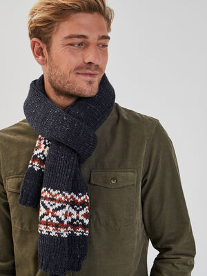 charpe tricotee bleu marine homme