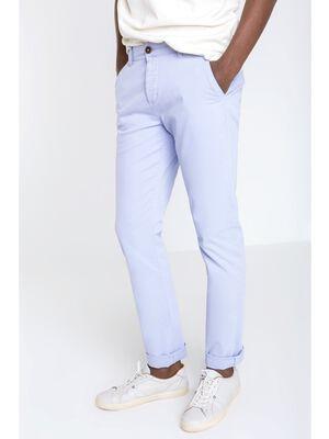 pantalon homme chino straight bleu lavande