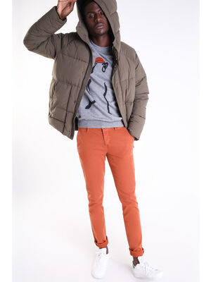 Pantalon slim Instinct orange fonce homme