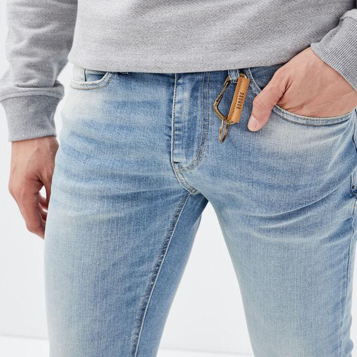 Jeans slim éco-responsable denim dirty homme