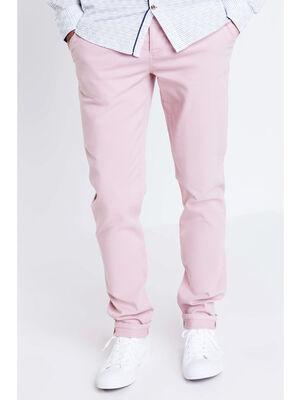 Pantalon chino slim Instinct rose clair homme