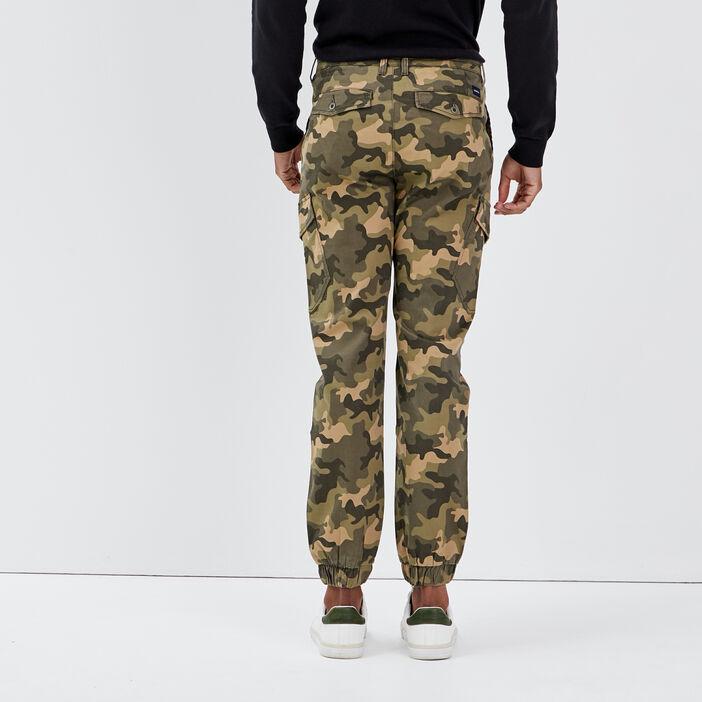 Pantalon battle ultra stretch vert kaki homme