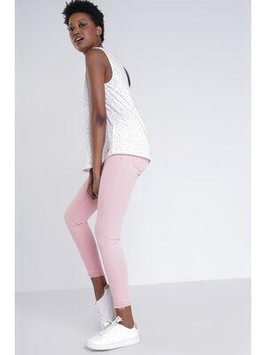 Jean colore rose clair femme
