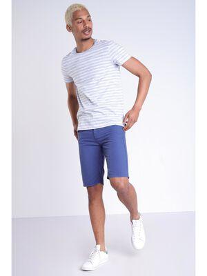 Bermuda droit 5 poches bleu marine homme
