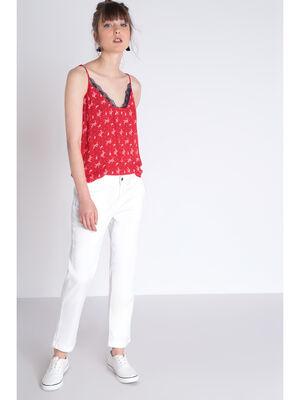 Pantalon Instinct chino blanc femme