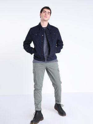 T shirt manches courtes poche bleu fonce homme