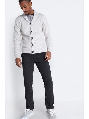 Pantalon straight 4 poches gris fonce homme