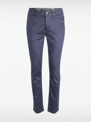 Jeans straight enduit denim brut enduit homme
